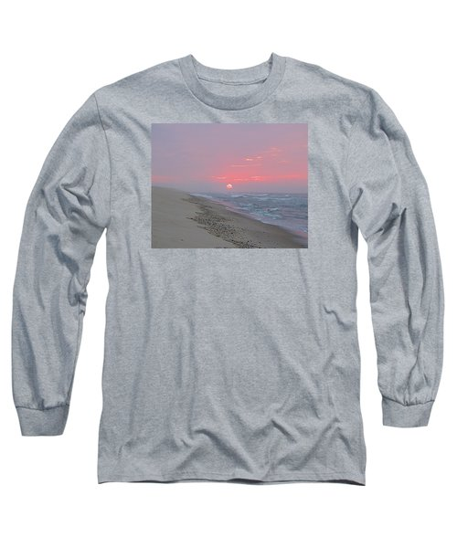 Long Sleeve T-Shirt featuring the photograph Hazy Sunrise by  Newwwman