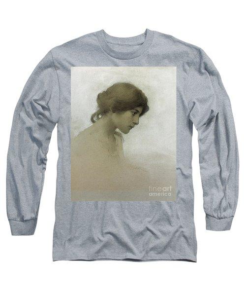 Head Of A Girl  Long Sleeve T-Shirt