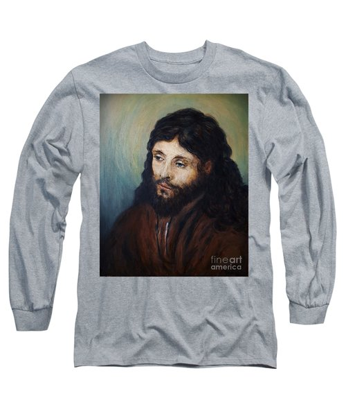 Head Of Christ After Rembrandt Long Sleeve T-Shirt