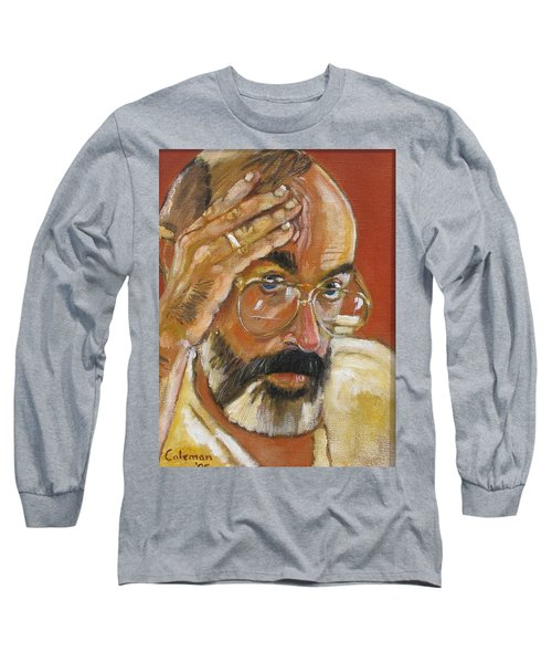Long Sleeve T-Shirt featuring the painting Headshot by Gary Coleman
