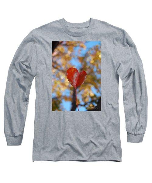 Heart Amongst Tree Top Long Sleeve T-Shirt by Debra Thompson