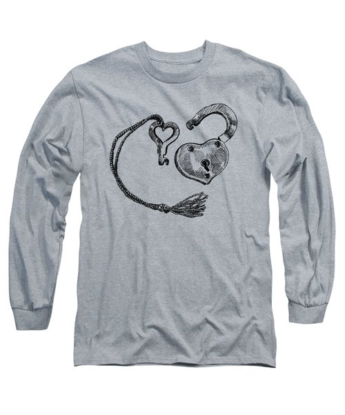 Heart Lock And Key Long Sleeve T-Shirt