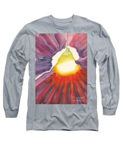 Long Sleeve T-Shirt featuring the painting Heart Of The Flower by Inese Poga