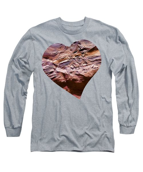 Heart Shape Stone Art Long Sleeve T-Shirt