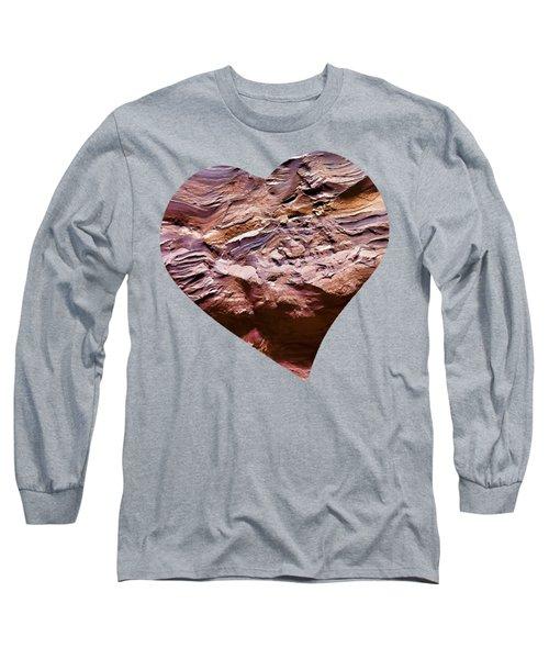 Heart Shape Stone Art Long Sleeve T-Shirt