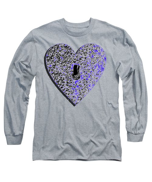 Long Sleeve T-Shirt featuring the photograph Heart Shaped Lock .png by Al Powell Photography USA