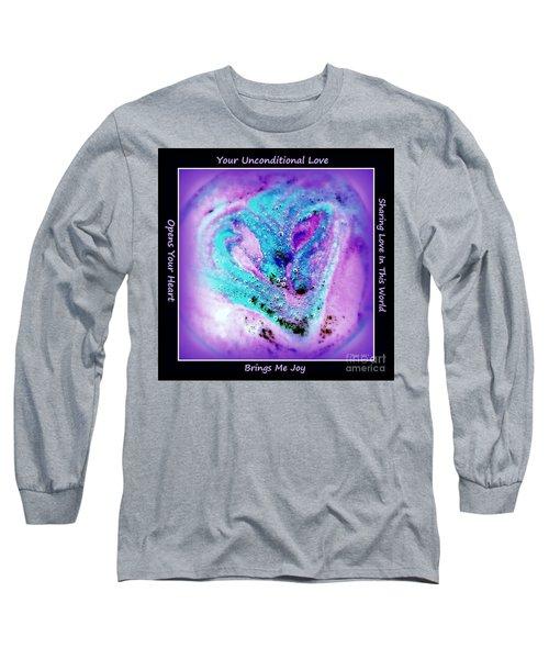 Heart Swirl Sedona Long Sleeve T-Shirt by Marlene Rose Besso