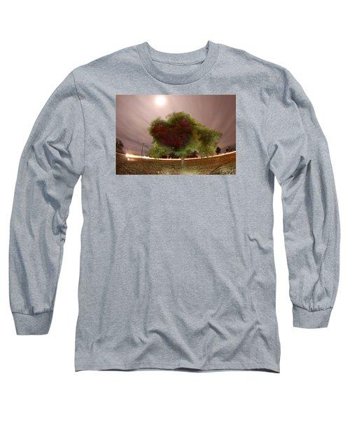 Heart Tree Scene Long Sleeve T-Shirt by Andrew Nourse