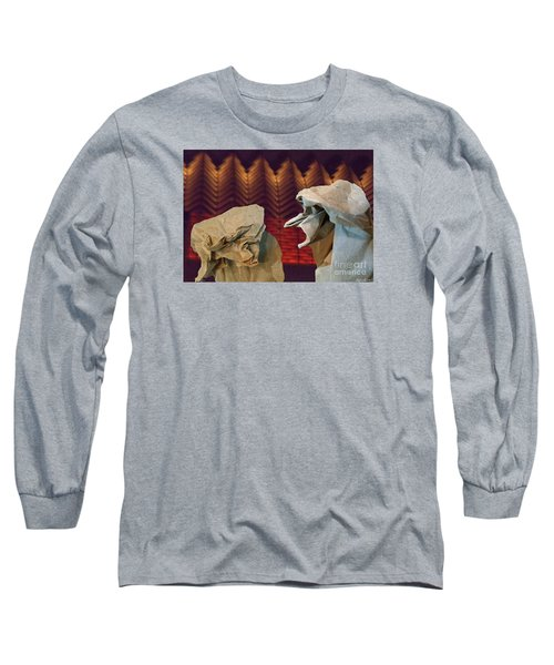 Long Sleeve T-Shirt featuring the digital art Heated Conversation by Lyric Lucas