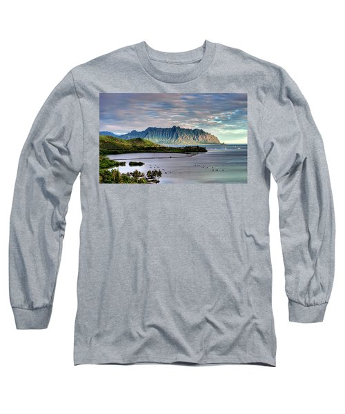 He'eia Fish Pond And Kualoa Long Sleeve T-Shirt