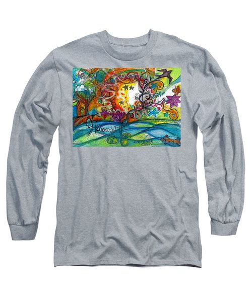 Long Sleeve T-Shirt featuring the painting Helios And Ophelia Posterized by Genevieve Esson