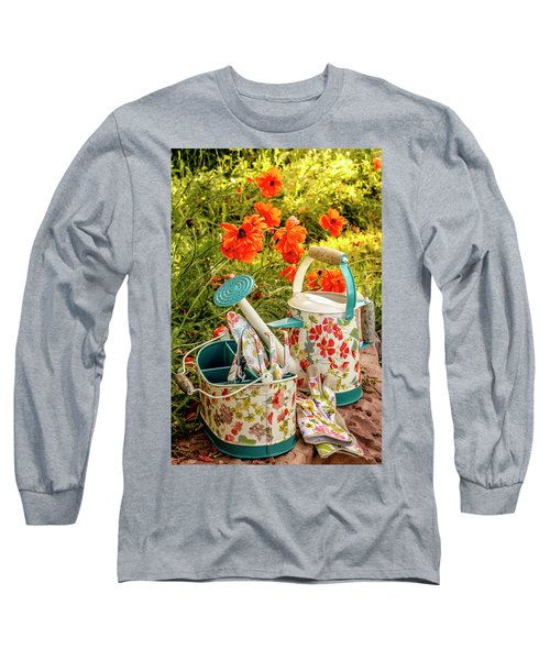 Long Sleeve T-Shirt featuring the photograph Hello Summer by Teri Virbickis