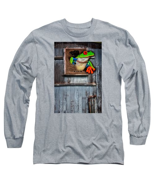 Long Sleeve T-Shirt featuring the photograph Hello World by Harry Spitz