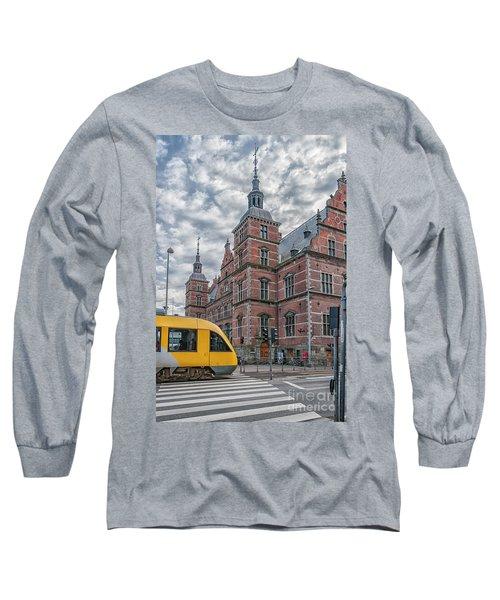 Long Sleeve T-Shirt featuring the photograph Helsingor Train Station by Antony McAulay