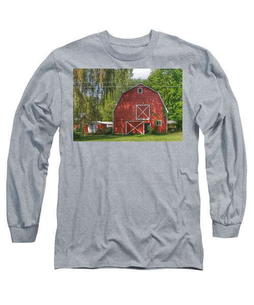 0018 - Henderson Road Red I Long Sleeve T-Shirt