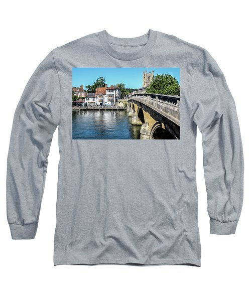 Henley And The Angel On The Bridge Long Sleeve T-Shirt by Ken Brannen