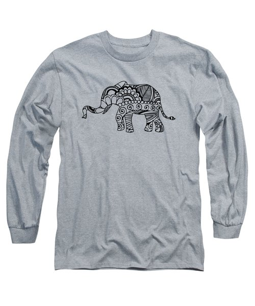 Henna Elephant 1 Long Sleeve T-Shirt