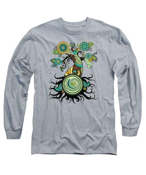 Henna Tree Of Life Long Sleeve T-Shirt by Serena King
