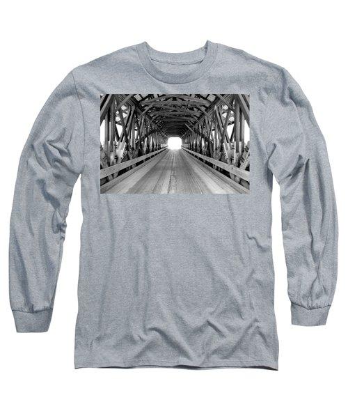Henniker Covered Bridge Long Sleeve T-Shirt by Greg Fortier