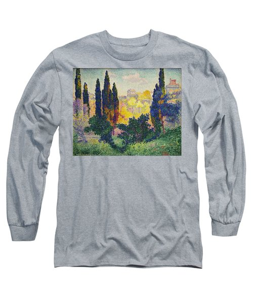 Henri Edmond Cross French Les Cypres A Cagnes Long Sleeve T-Shirt