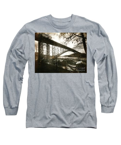 Long Sleeve T-Shirt featuring the photograph Henry Hudson Bridge, 1936 by Cole Thompson