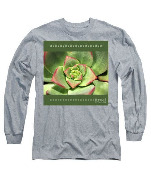 Hens And Chicks Succulent And Design Long Sleeve T-Shirt