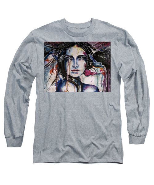 Long Sleeve T-Shirt featuring the painting Her Sacrifice by Geni Gorani