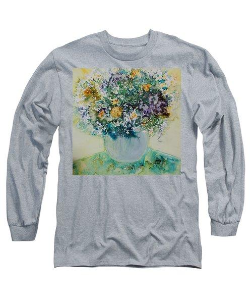 Herbal Bouquet Long Sleeve T-Shirt by Joanne Smoley
