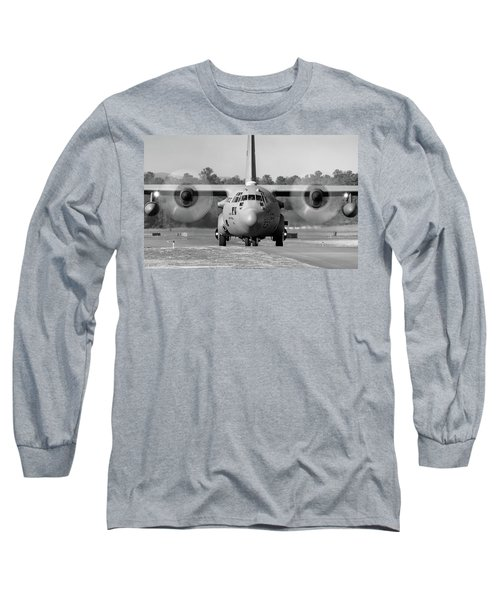 Hercules In Black And White Long Sleeve T-Shirt