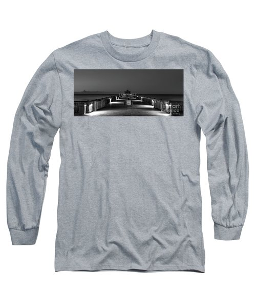 Long Sleeve T-Shirt featuring the photograph Here It Comes Folly Beach Pier Sunrise Art by Reid Callaway