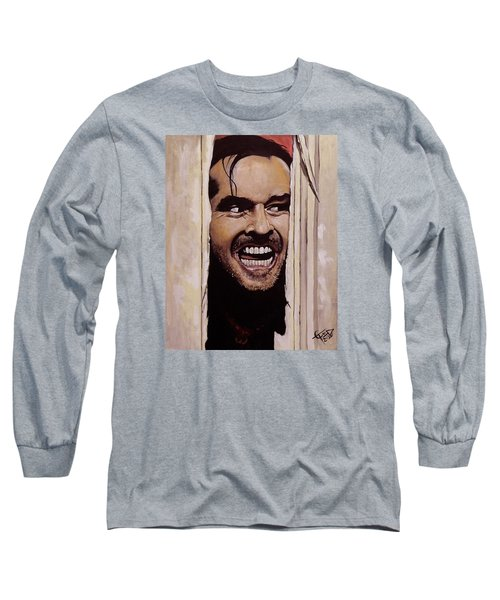Here's Johnny Long Sleeve T-Shirt by Tom Carlton