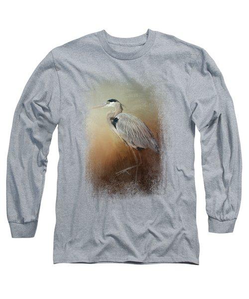 Heron At The Inlet Long Sleeve T-Shirt