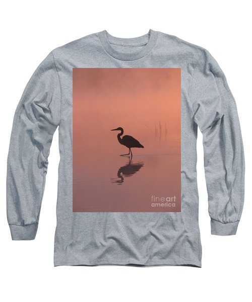 Long Sleeve T-Shirt featuring the photograph Heron Collection 1 by Melissa Stoudt