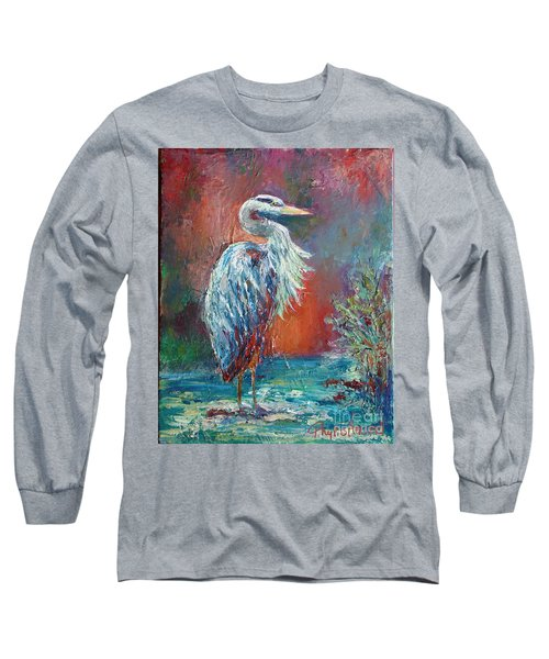 Heron In Color Long Sleeve T-Shirt