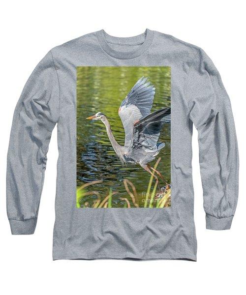 Heron Liftoff Long Sleeve T-Shirt
