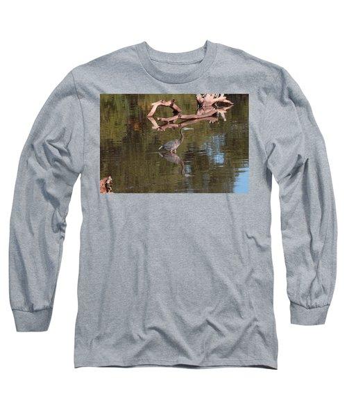 Heron Reflection Long Sleeve T-Shirt