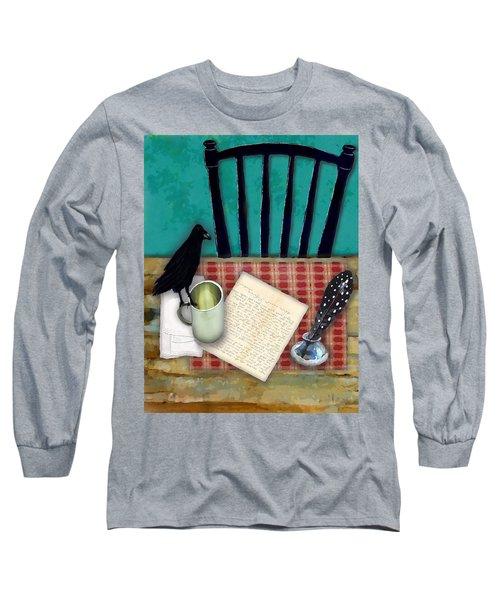 He's Gone Long Sleeve T-Shirt by Lisa Noneman
