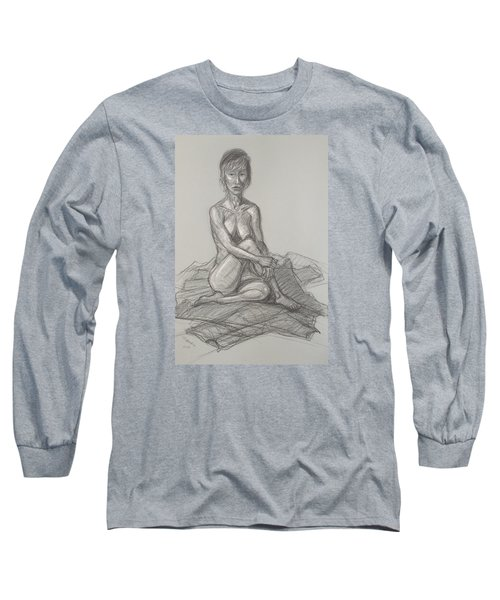 Hey Yong Seated Long Sleeve T-Shirt by Donelli  DiMaria
