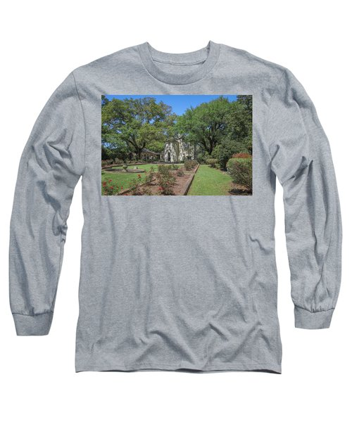 Long Sleeve T-Shirt featuring the photograph Heyman House Garden 5 by Gregory Daley  PPSA