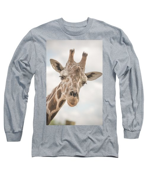 Hi There, I'm A Giraffe Long Sleeve T-Shirt by David Collins
