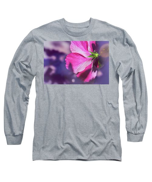 Hibiscus In The Shadows Long Sleeve T-Shirt