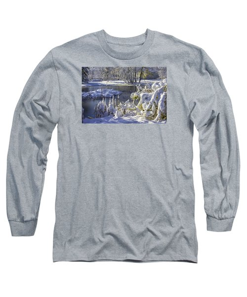 Hickory Nut Grove Landscape Long Sleeve T-Shirt by Raymond Kunst