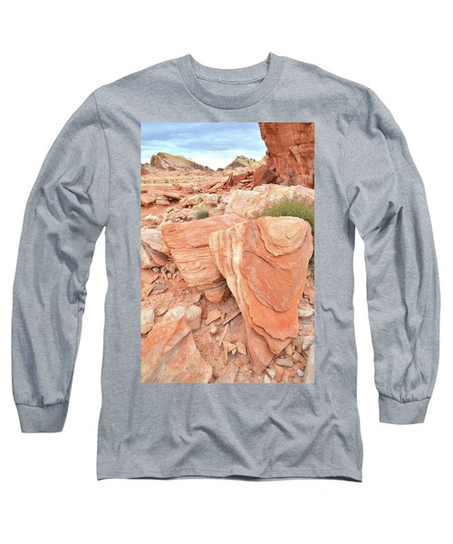 Long Sleeve T-Shirt featuring the photograph Hidden Cove In Valley Of Fire by Ray Mathis