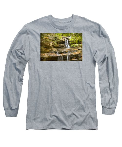 Hidden Falls-hanging Rock State Park Long Sleeve T-Shirt