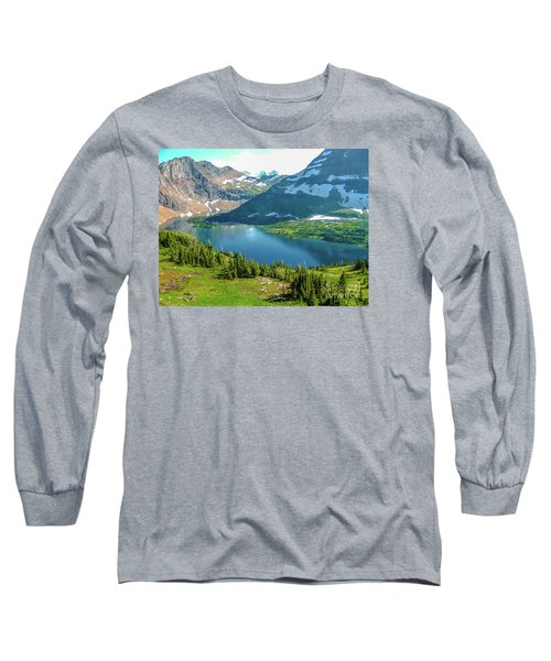 Hidden Lake Glacier National Park Long Sleeve T-Shirt