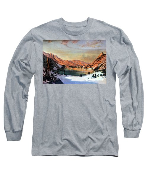 Hidden Lake Western United States Long Sleeve T-Shirt