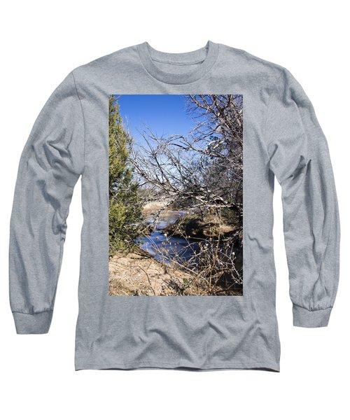 Hidden Swimming Hole Long Sleeve T-Shirt by Ricky Dean