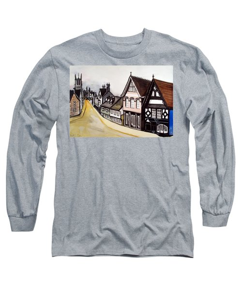 High Street Of Stamford In England Long Sleeve T-Shirt by Dora Hathazi Mendes