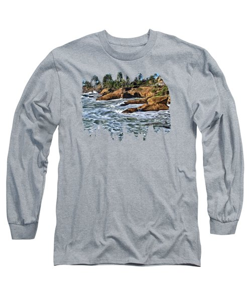 High Tide At Arch Rock Long Sleeve T-Shirt