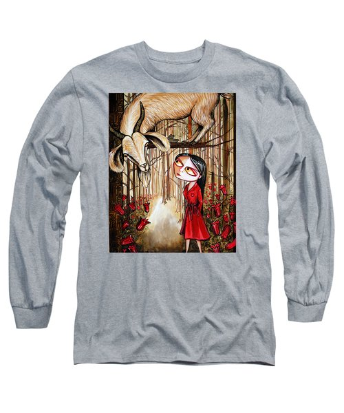 Long Sleeve T-Shirt featuring the painting Higher Ground by Leanne WILKES